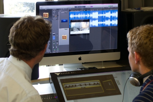 Working on composing for film in Apple Logic Pro X