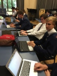 All students have laptops which makes working on blogs very easy