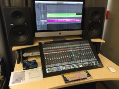 "Our ""Studio 2"" featuring a Slate Raven touchscreen mixer"